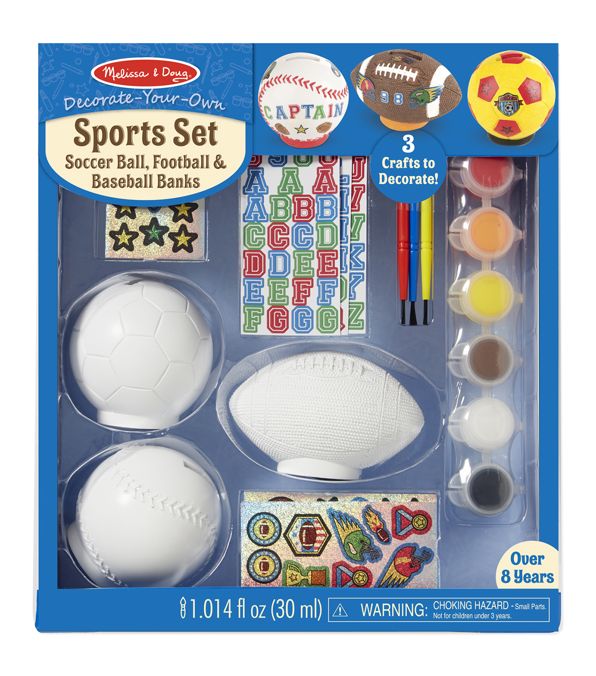 Melissa & Doug® Decorate-Your-Own Sports Set