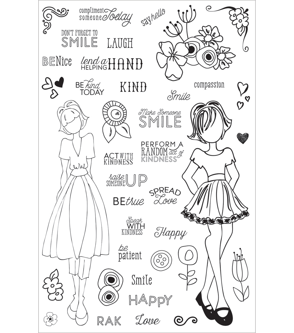 Planner Clear Stamps 4\u0022X6\u0022-Make Kindness Happen