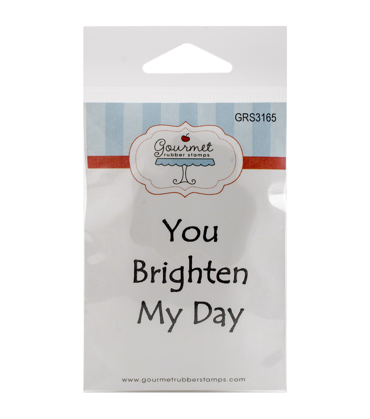 Gourmet Rubber Stamps You Brighten My Day Cling Stamps
