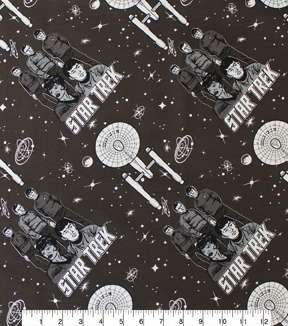 Star Trek™ Cotton Fabric 44\u0022-Characters and Ships