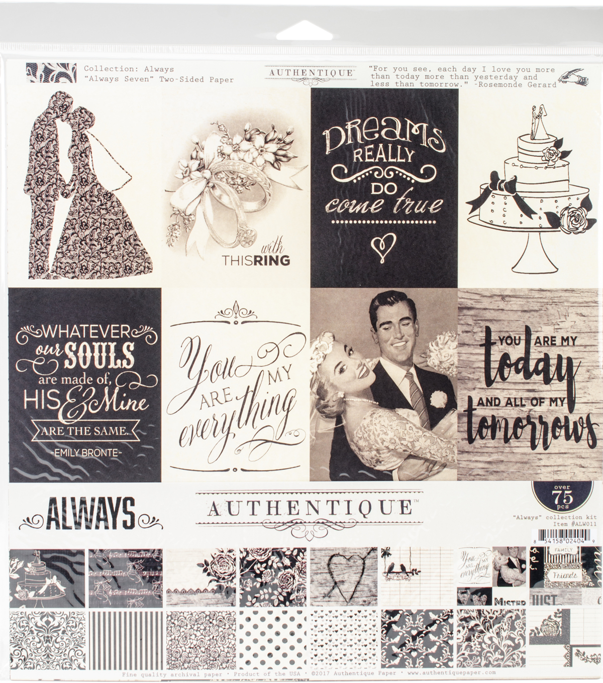 "Authentique Collection Kit 12""X12""-Always"