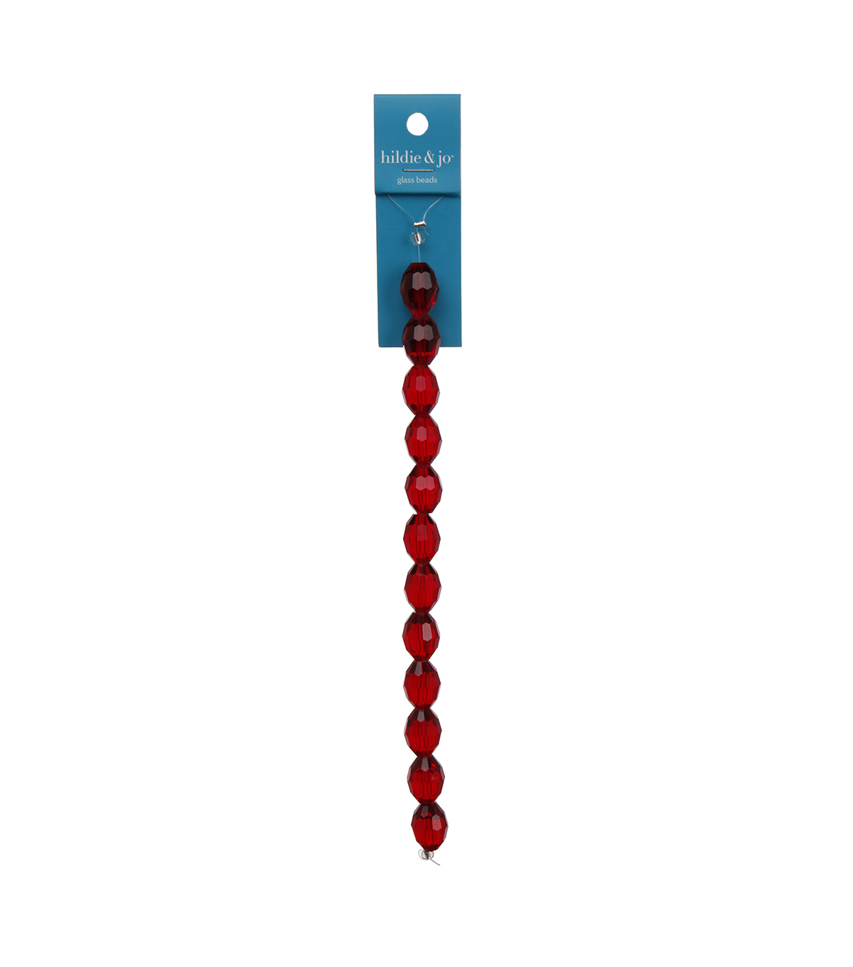 Blue Moon Strung Machine Cut Crystal Beads,Oval,Red,Facetted