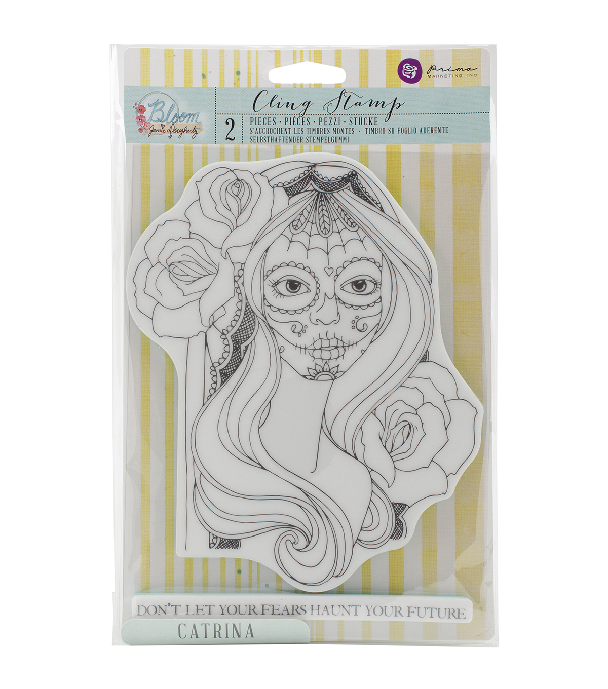 Prima Marketing Bloom Catrina Cling Rubber Stamps