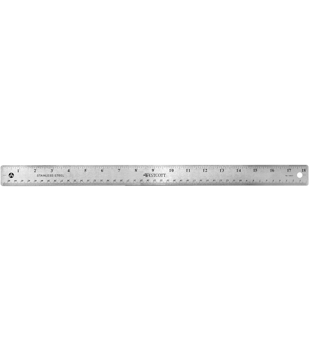 Acme Stainless Steel English Metric Ruler