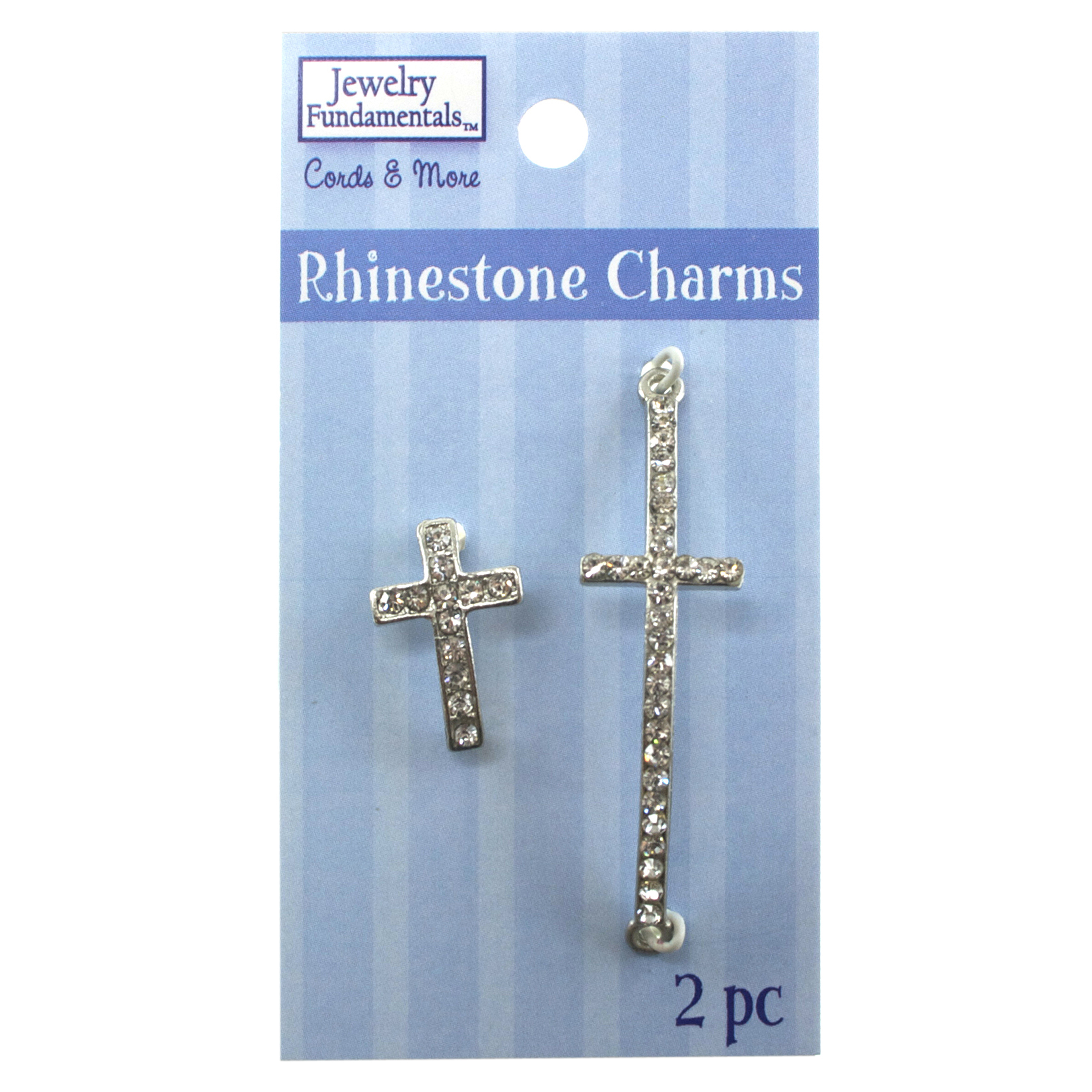 Jewelry Fundamentals Cords&More Rhinestone Charms - Rhinestone Crosses