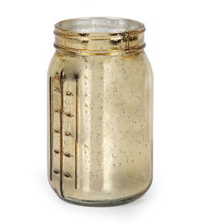 Glass Vintage Jar- Gold Mercury