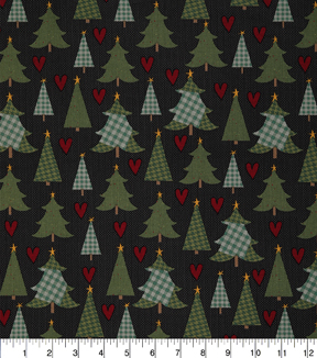 Christmas Cotton Fabric 43\u0022-Lodge Christmas Trees