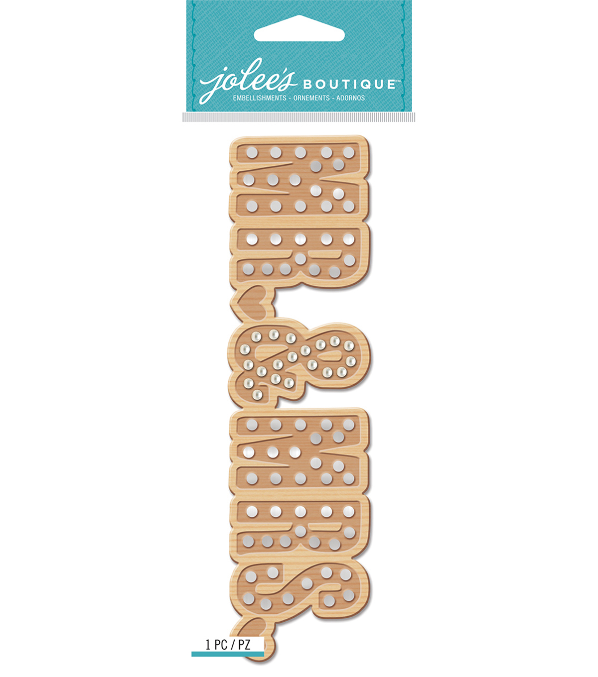 Jolee\u0027s Boutique Title Waves Dimensional Stickers-Mr. & Mrs. Marquee