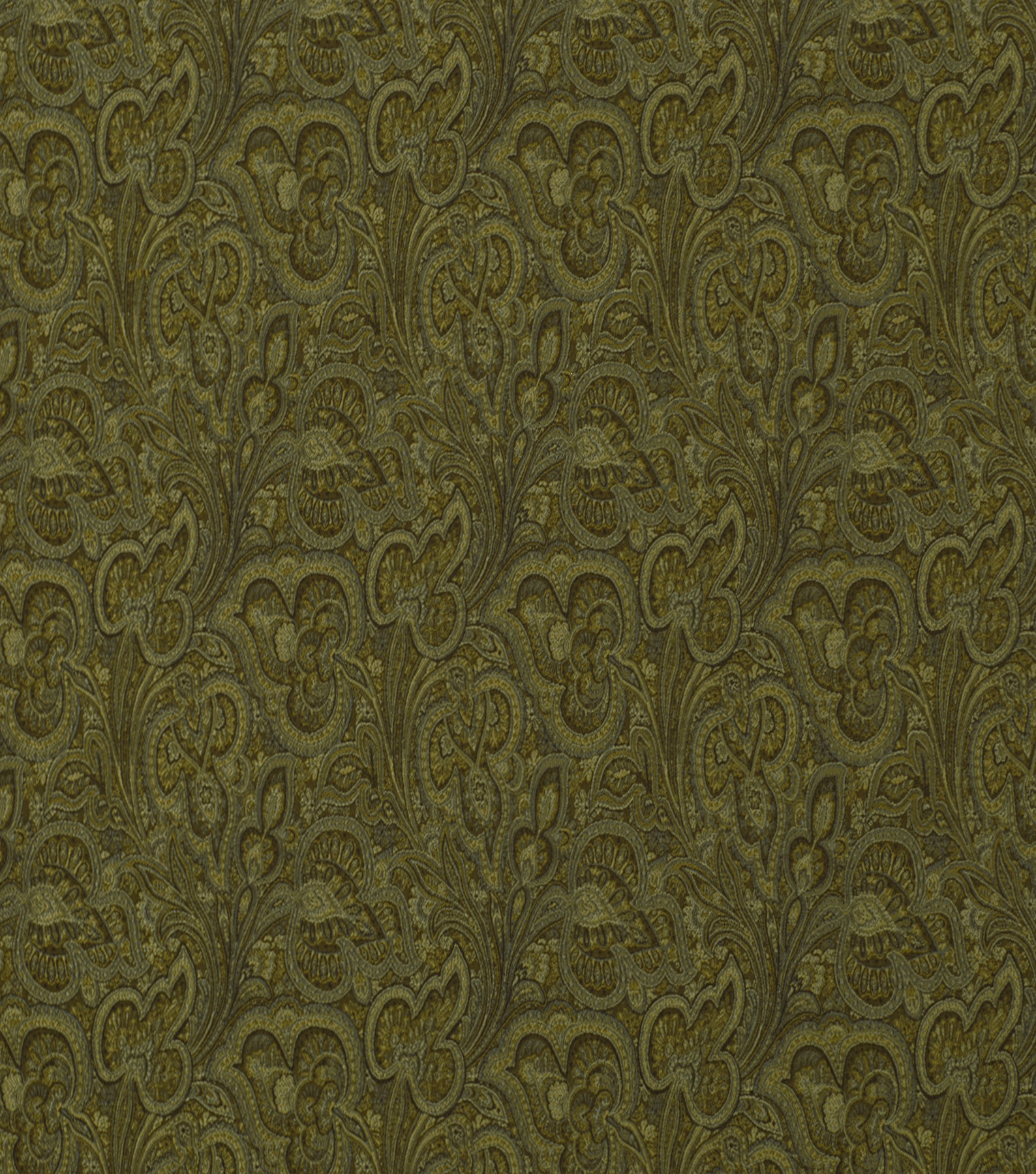 Home Decor 8\u0022x8\u0022 Fabric Swatch-Solid Fabric Robert Allen Paisley Fleur Nutmeg