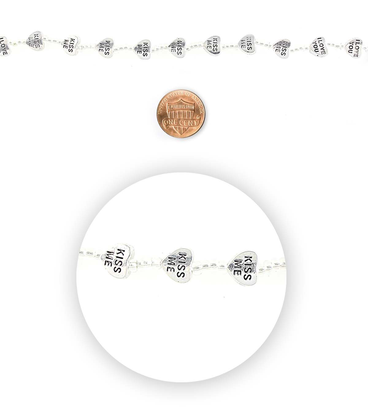 Blue Moon Bead Strands Love Silver