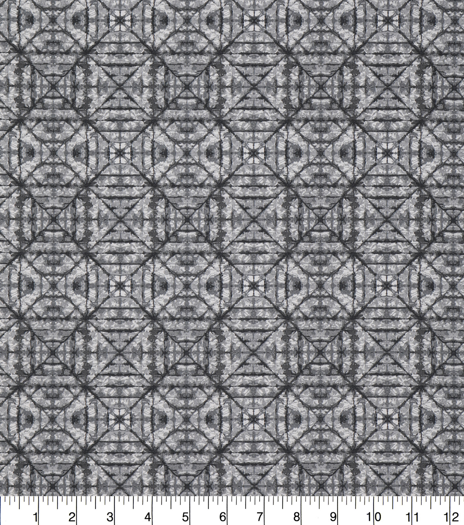 Keepsake Calico Cotton Fabric 43\u0027\u0027-Gray Tonal Geometric Diamond