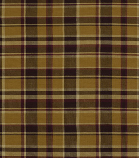 "Home Decor 8""x8"" Fabric Swatch-Robert Allen Hopsack Plaid Spice Fabric"