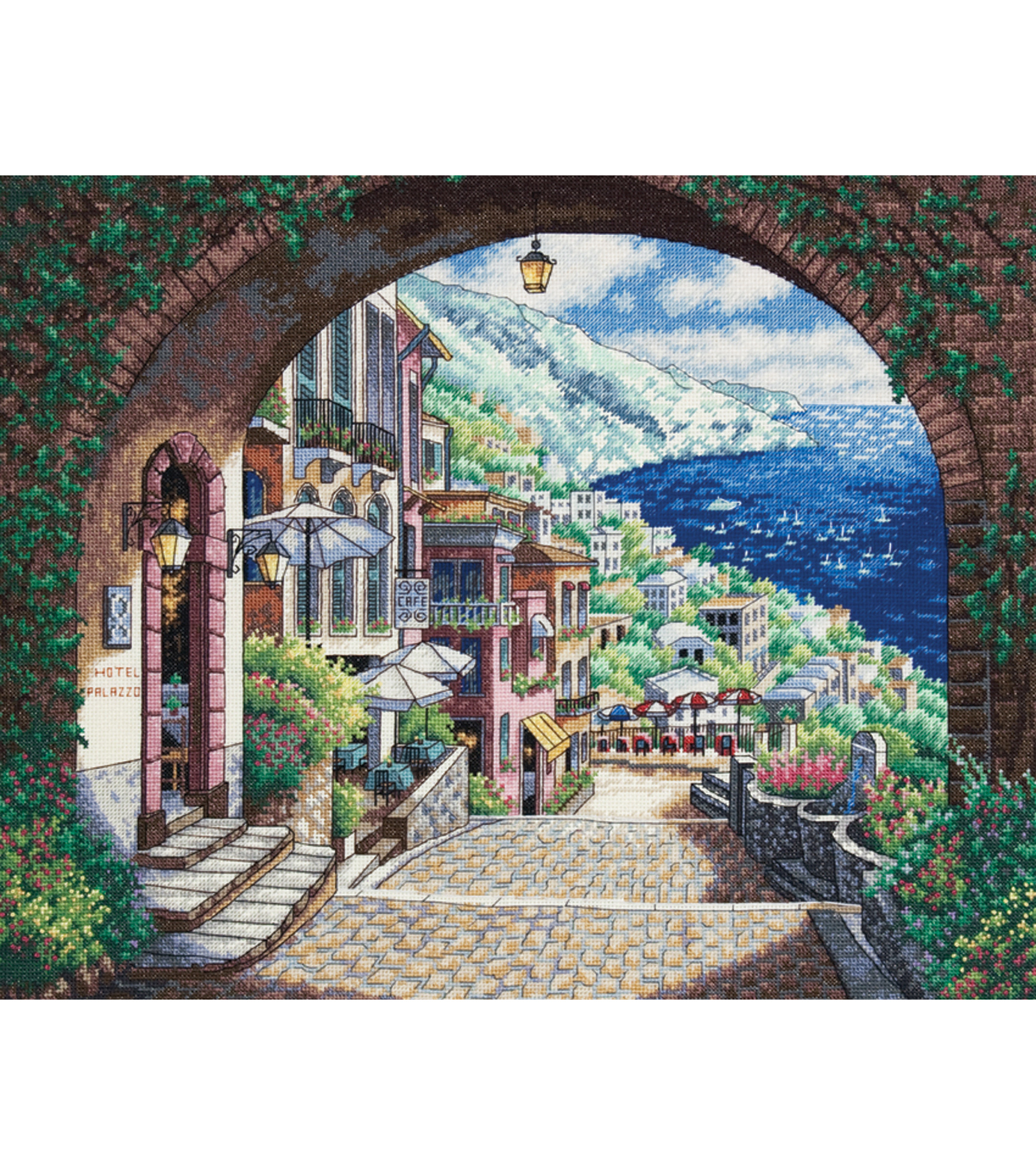 "Dimensions Gold Collection Coastal View Counted Cross Stitch Kit-15""X12"" 18 Count"