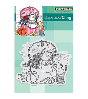 Penny Black Sew Nice Rubber Cling Stamp 4''x5''