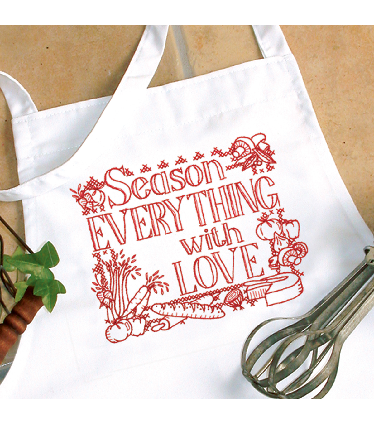 Dimensions Season Everything Apron Stamped Cross Stitch-One Size Fits All