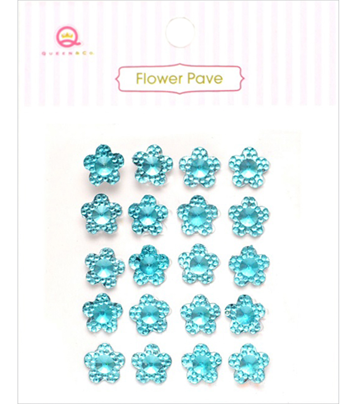 Queen & Co Flower Pave Adhesive Crystal Embellishments
