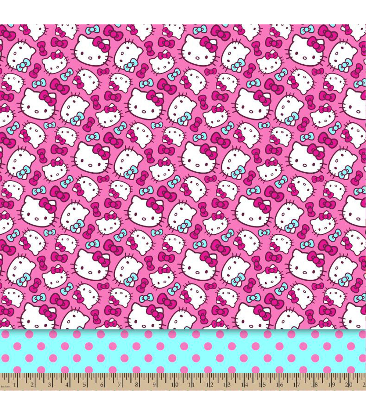 Sanrio Hello Kitty® Mock Smock Fabric 21\u0022-Dots