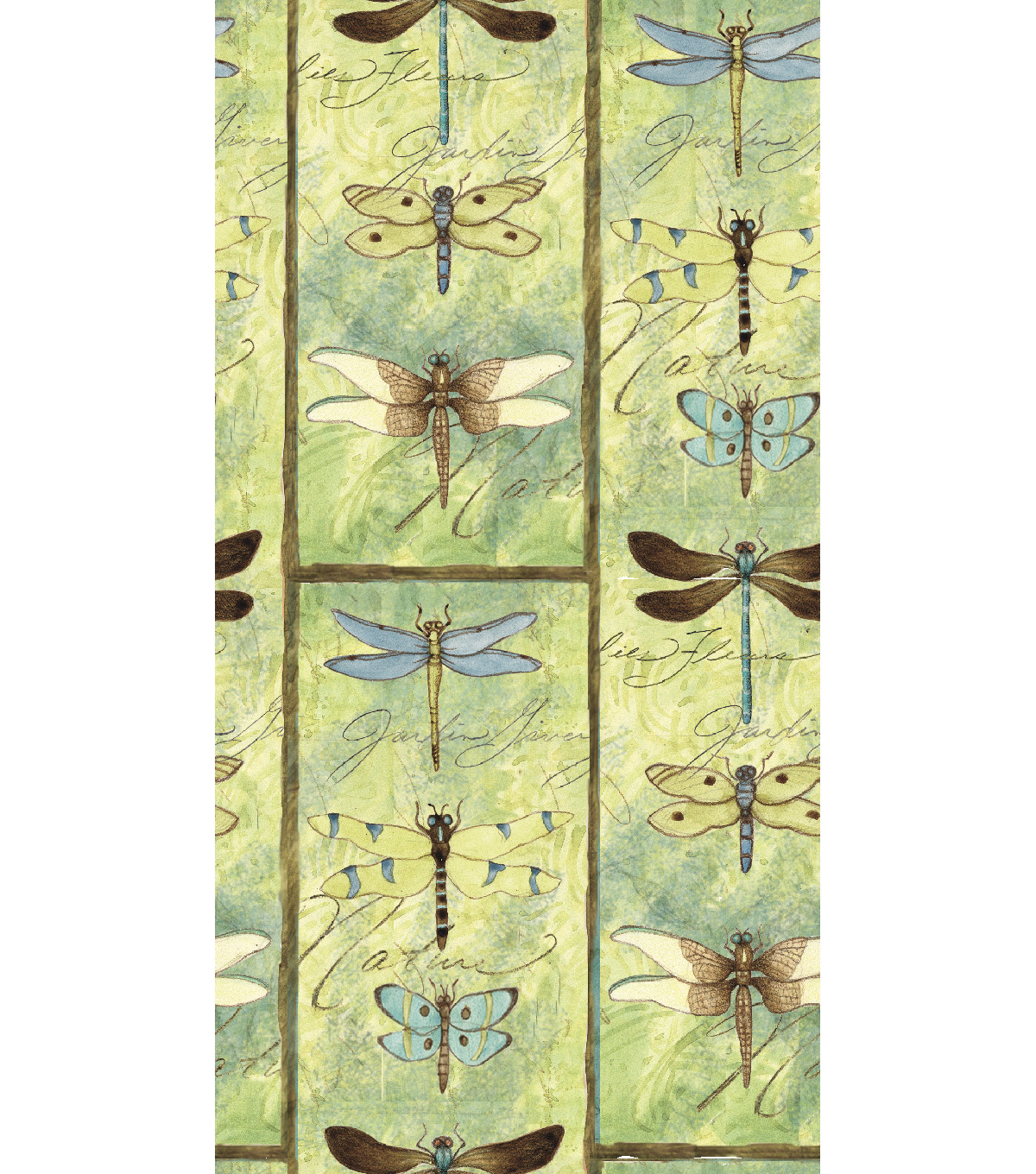 "Susan Winget Premium Cotton Fabric 44""-Dragon Fly Blocks"