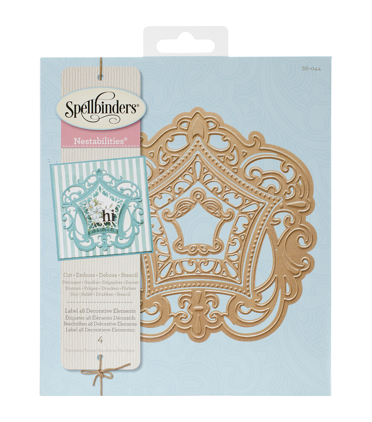 Spellbinders® Nestabilities Elements Dies-Labels 48 Deco Element