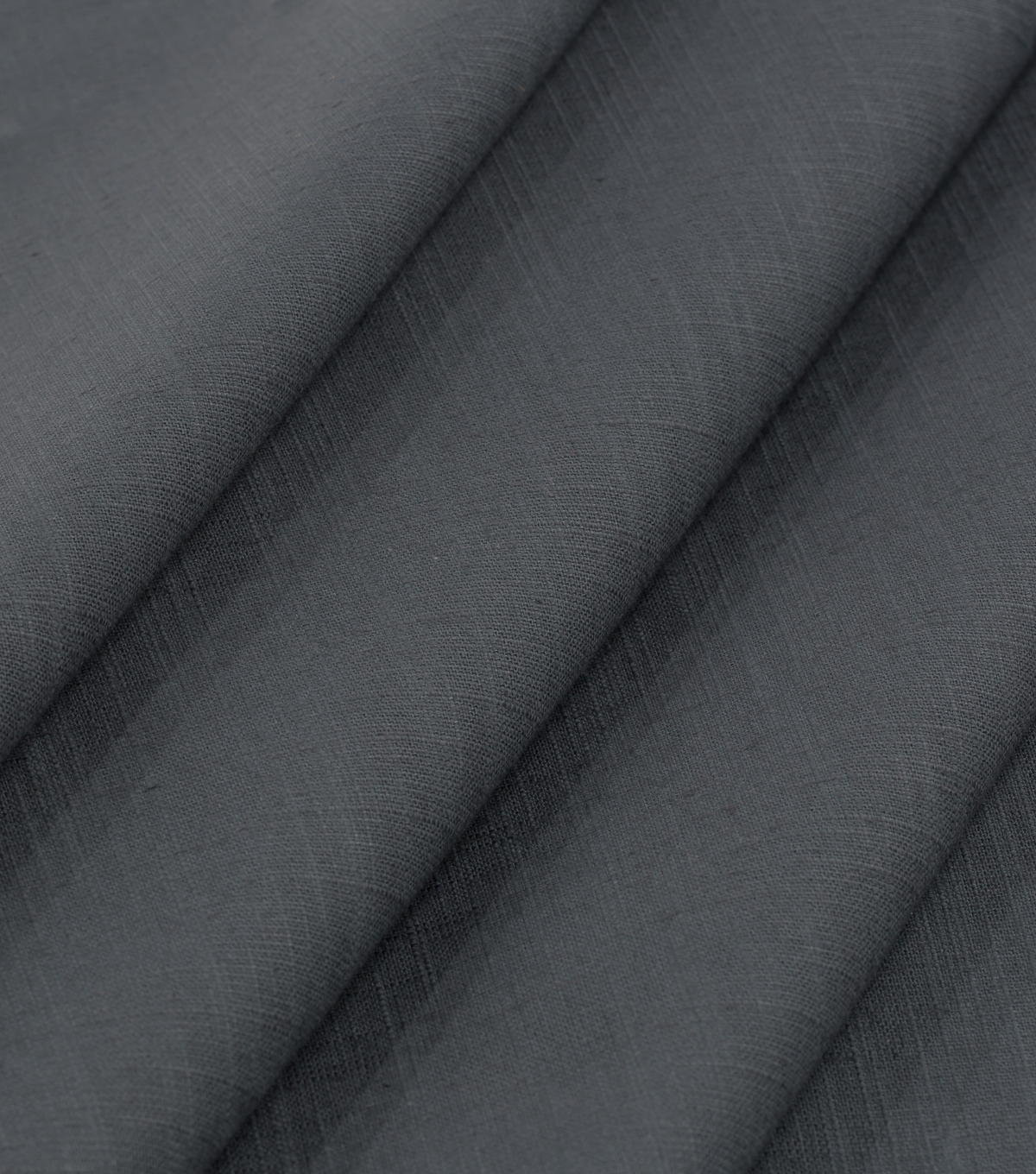 Robert Allen @ Home Solid Fabric 54\u0022-Slubbed Weave Charcoal