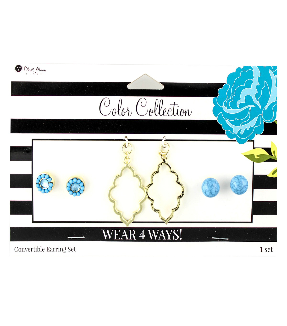 Blue Moon Beads Color Collection Earring Mix & Match Pack-Turquoise Gold