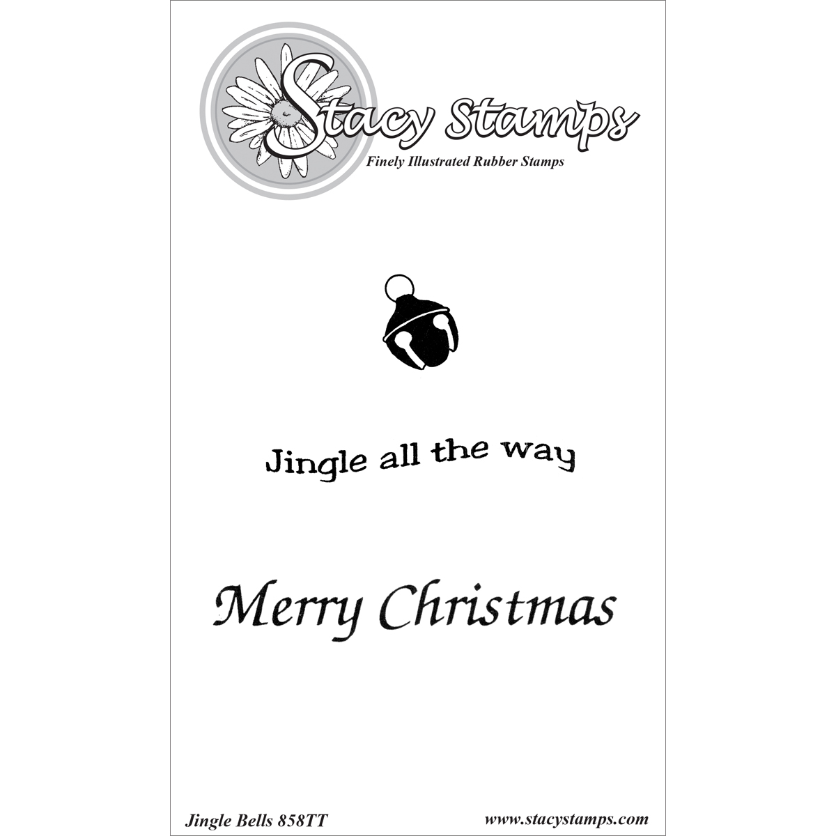 Stacy Stamps Cling Mounted Stamps Jingle Bells
