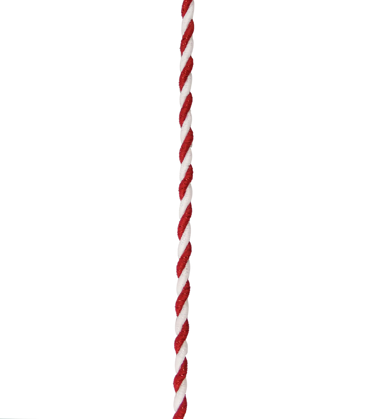 Maker\u0027s Holiday Christmas Cord Ribbon 1/6\u0027\u0027x9\u0027-Red & White
