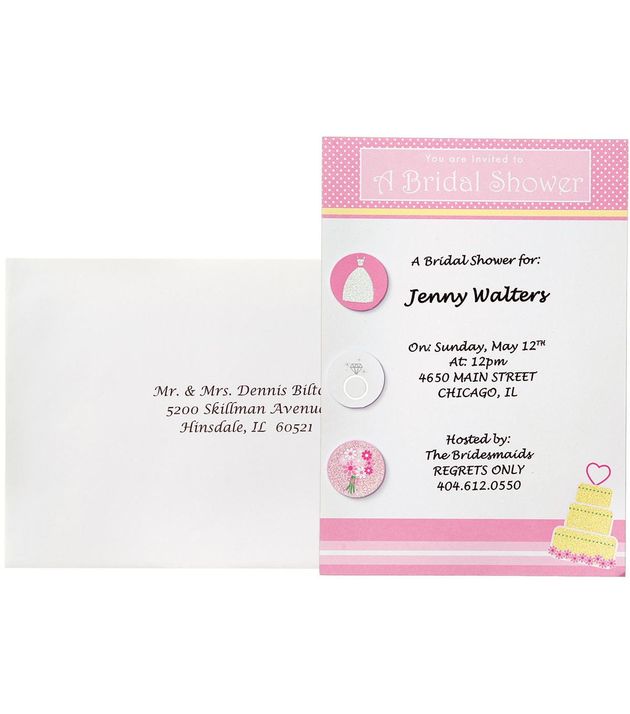 Invitation kit makes 12 bridal shower fun joann invitation kit makes 12 bridal shower fun filmwisefo Image collections