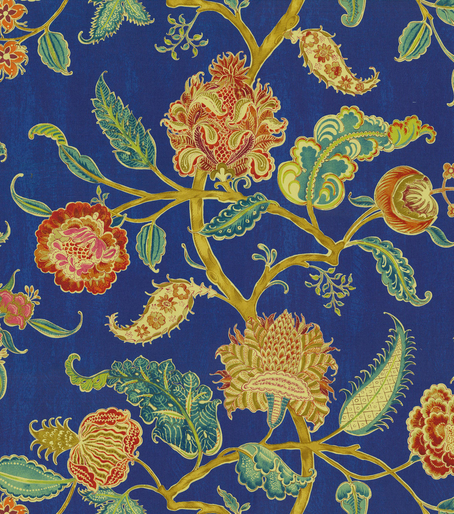 "Waverly Print Fabric 54""-Asian Myth/Evening Sky"
