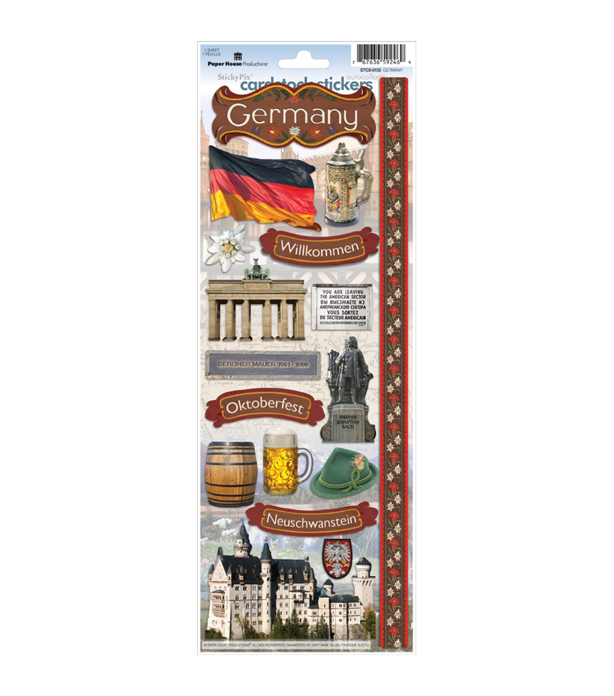 Germany -cardstock Stickers