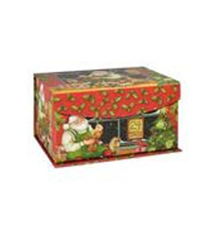 Maker\u0027s Holiday Small Flip Top Box-Traditional Santa