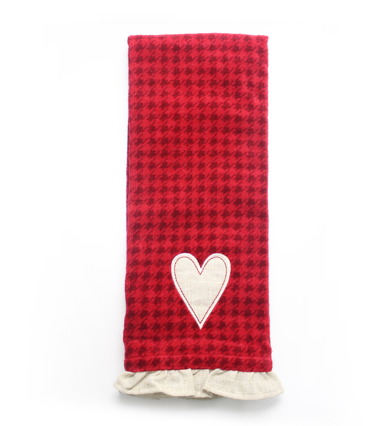 Valentine\u0027s Day Heart Terry Hand Towel-Houndstooth