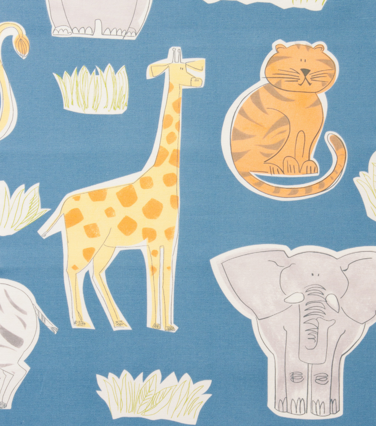 Alexander Henry Cotton Fabric 44\u0022-Bongo Jungle Blue