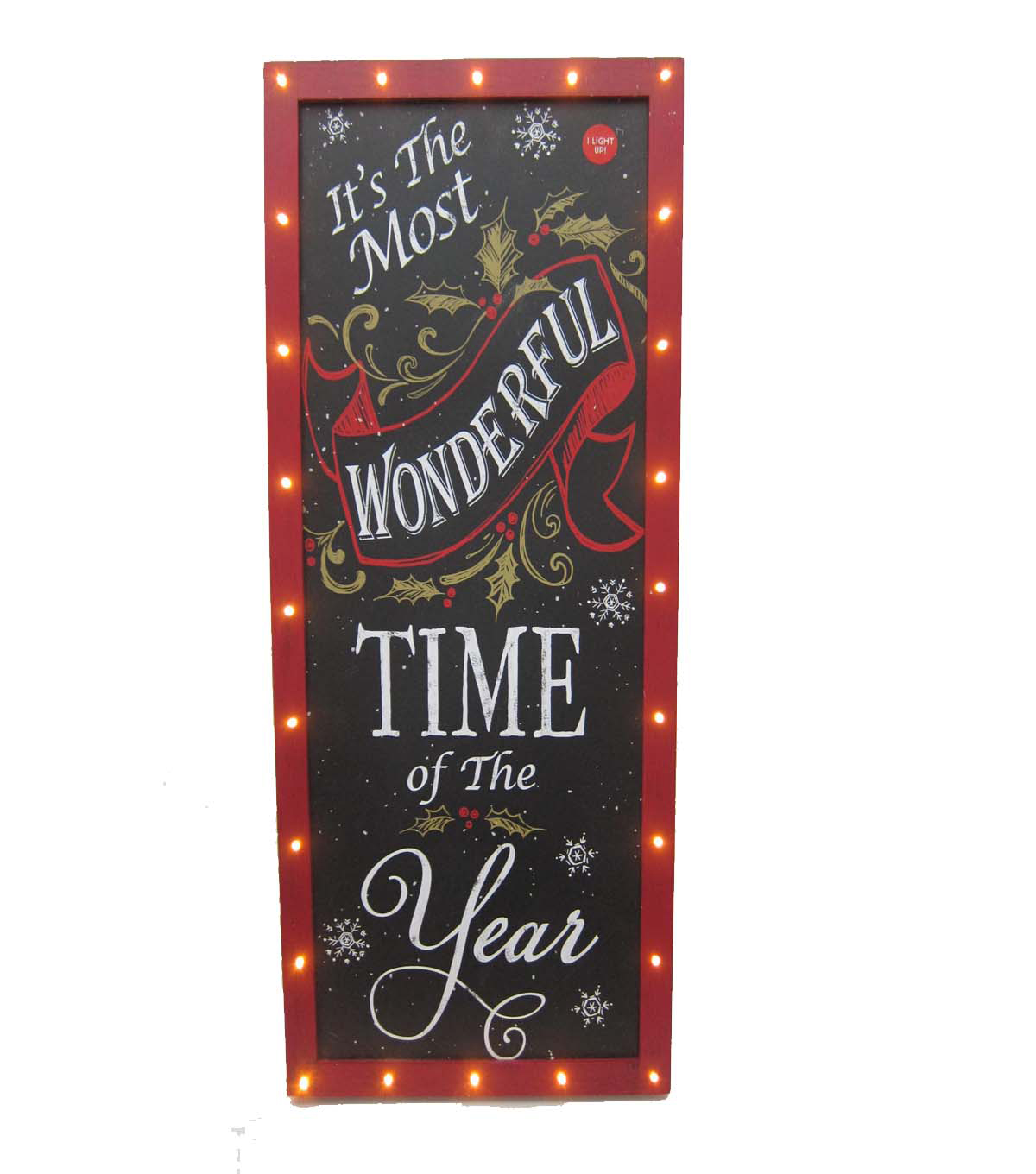 Maker\u0027s Holiday Wonderful Time Chalkboard Wall Decor