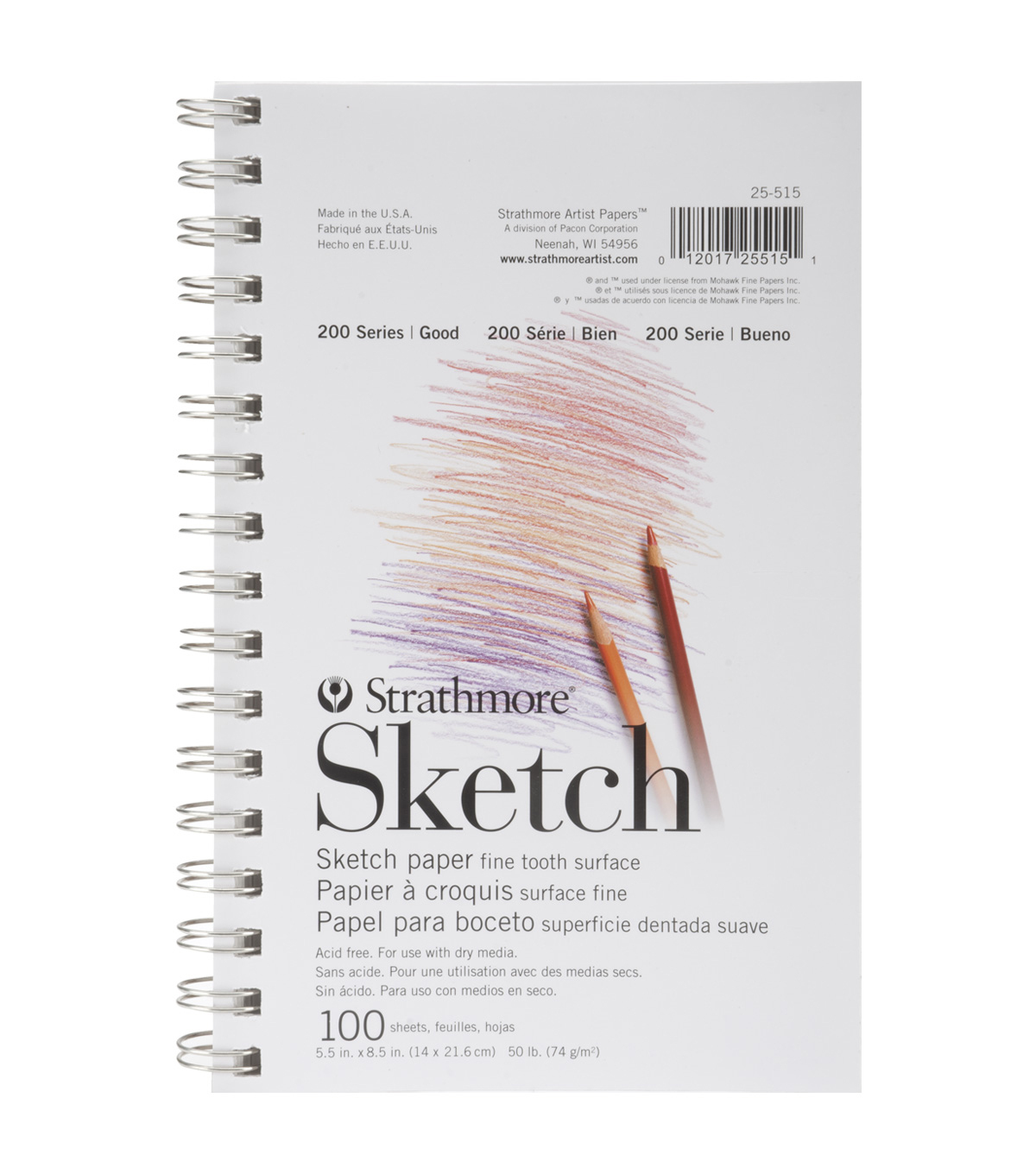 "Strathmore Student Sketch Pad 5.5""X8.5"" 100 Sheets"
