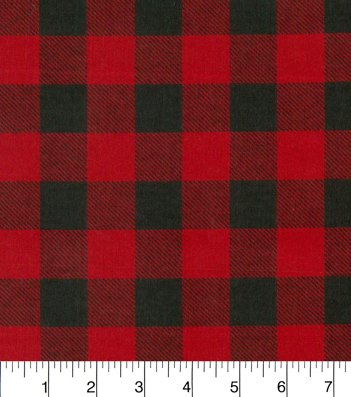 Red & Black Checkered Flannel Fabric | JOANN : quilting fabric sale online - Adamdwight.com
