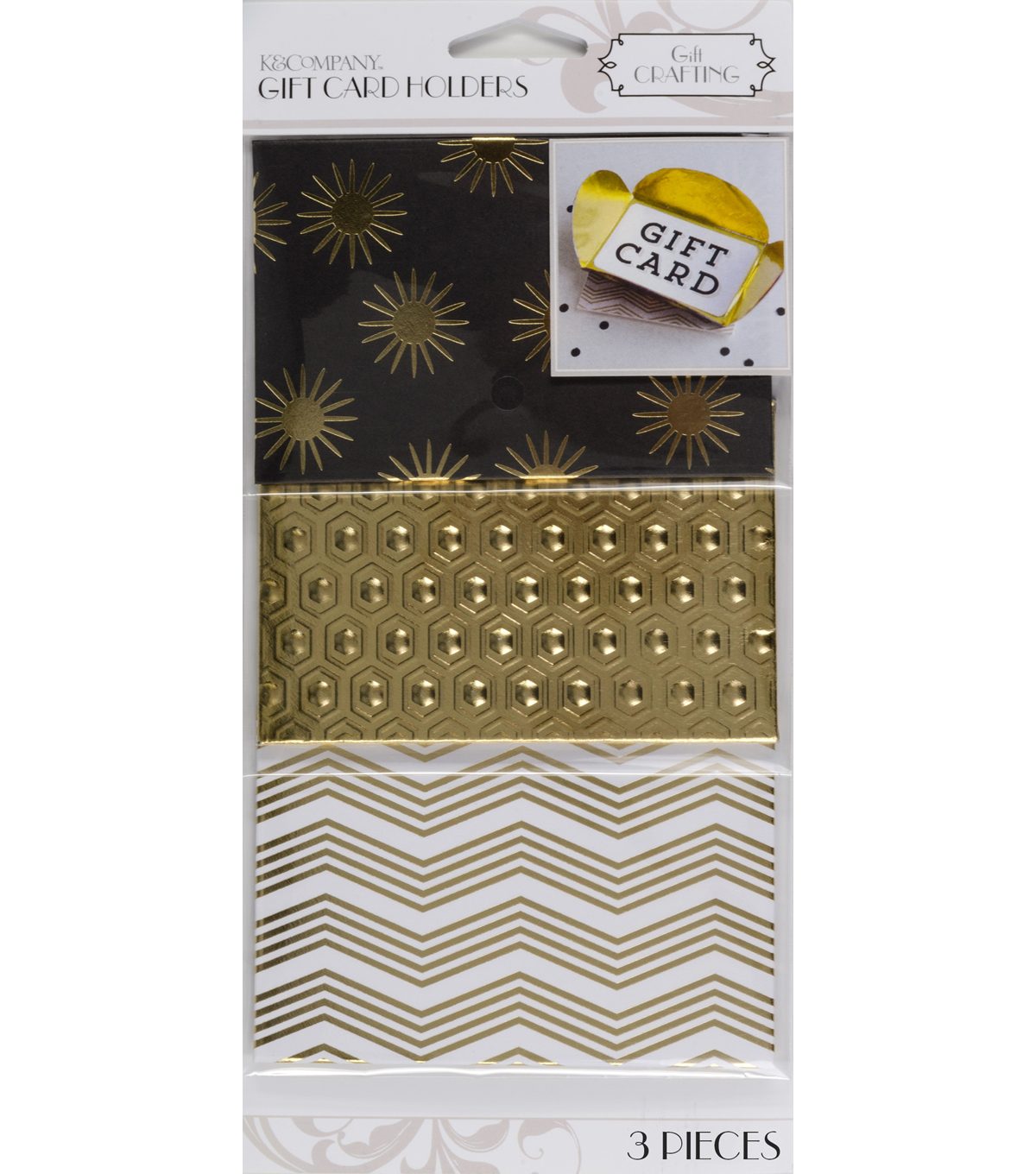 K&Company Gold Foil Gift Card Holders