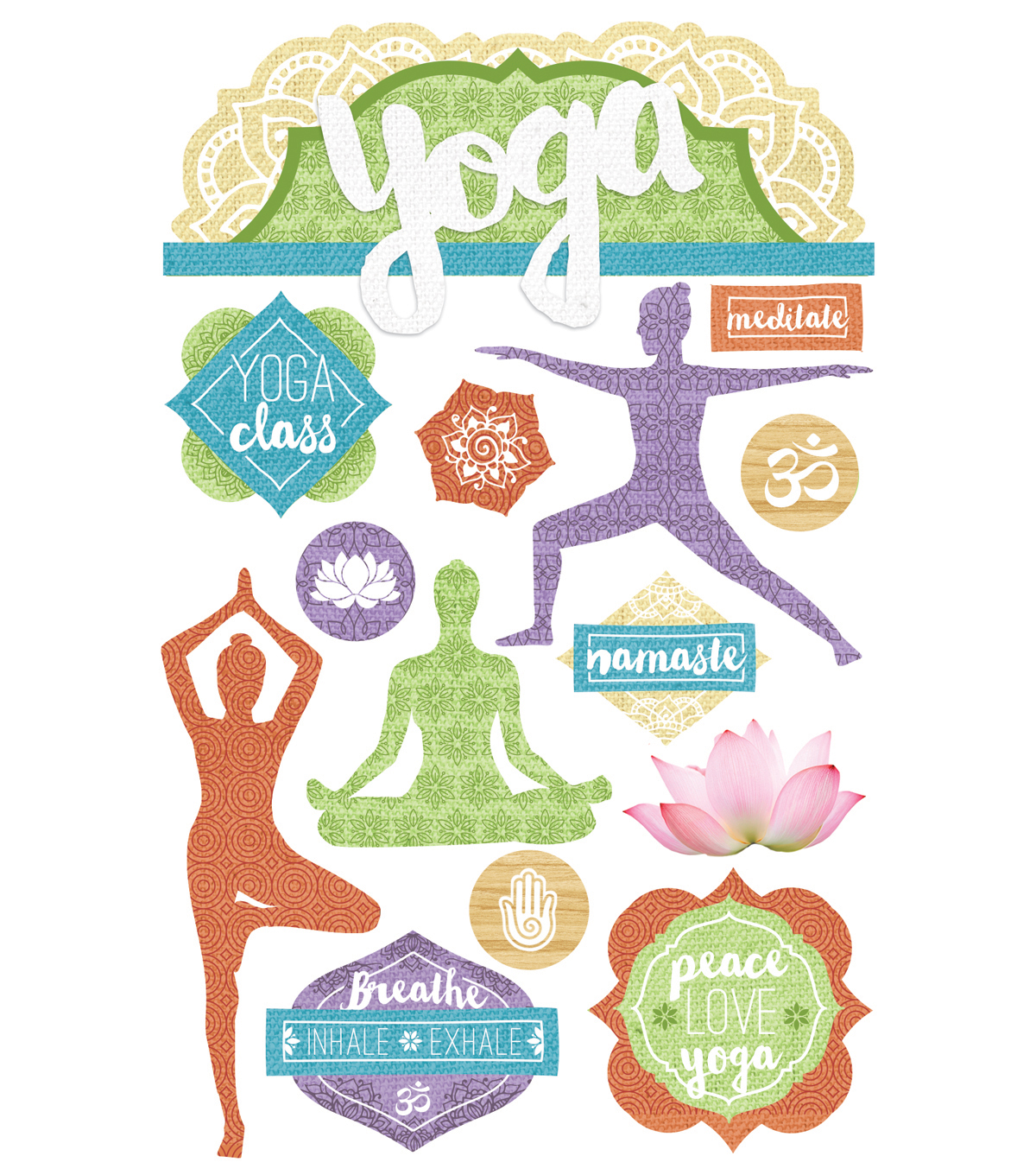 Paper House® 3D Stickers-Yoga