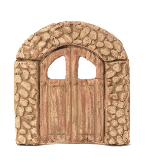 Fairy Garden White Terracotta Door