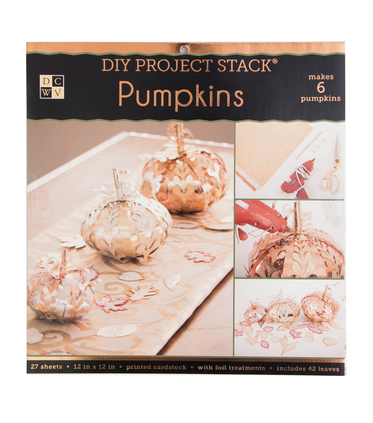 DCWV 12\u0022x12\u0022 DIY Project Stack-Pumpkins