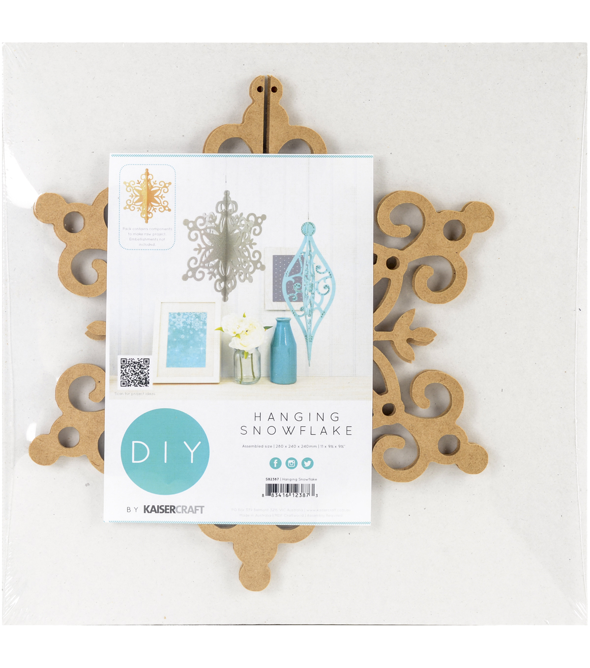 Kaisercraft Beyond The Page MDF Hanging Ornament-Snowflake