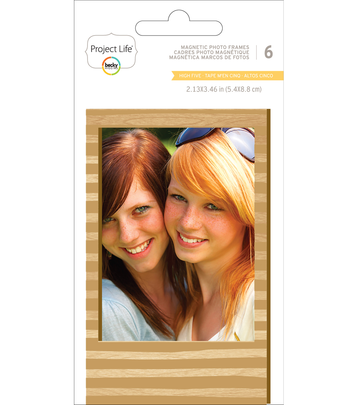 Project Life High Five 2.13''x3.46'' Wood Magnetic Photo Frames