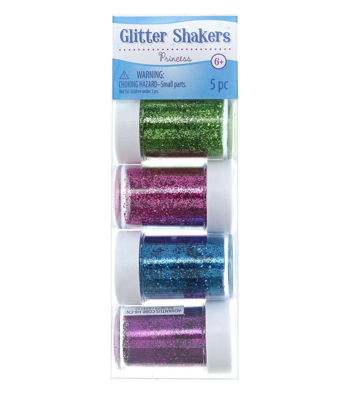 Glitter 5 Pack Shakers-Princess