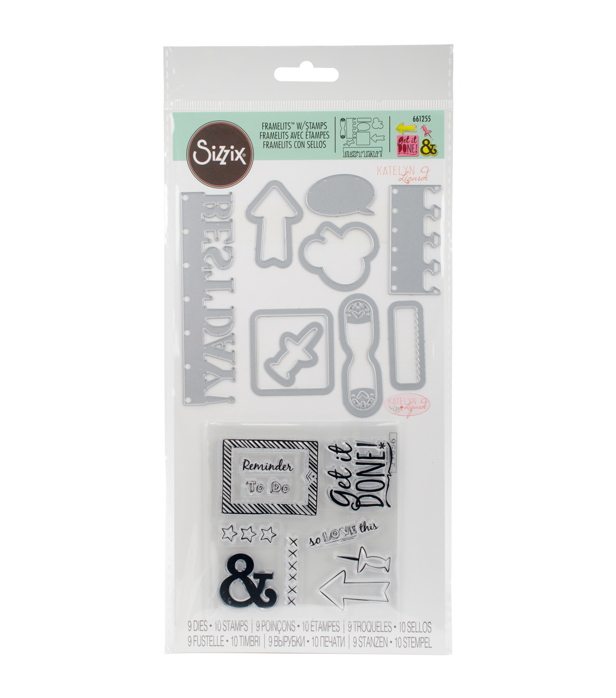 Sizzix® Framelits™ Dies with Stamps-Get It Done