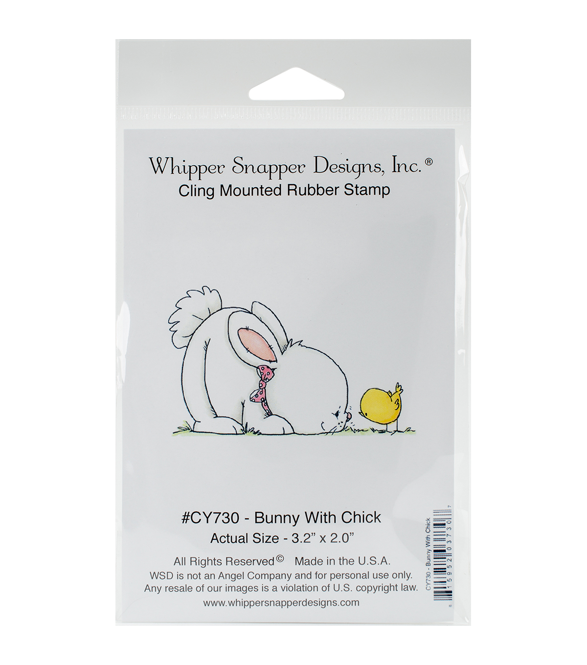 Whipper Snapper Designs Cling Stamp-Bunny With Chick