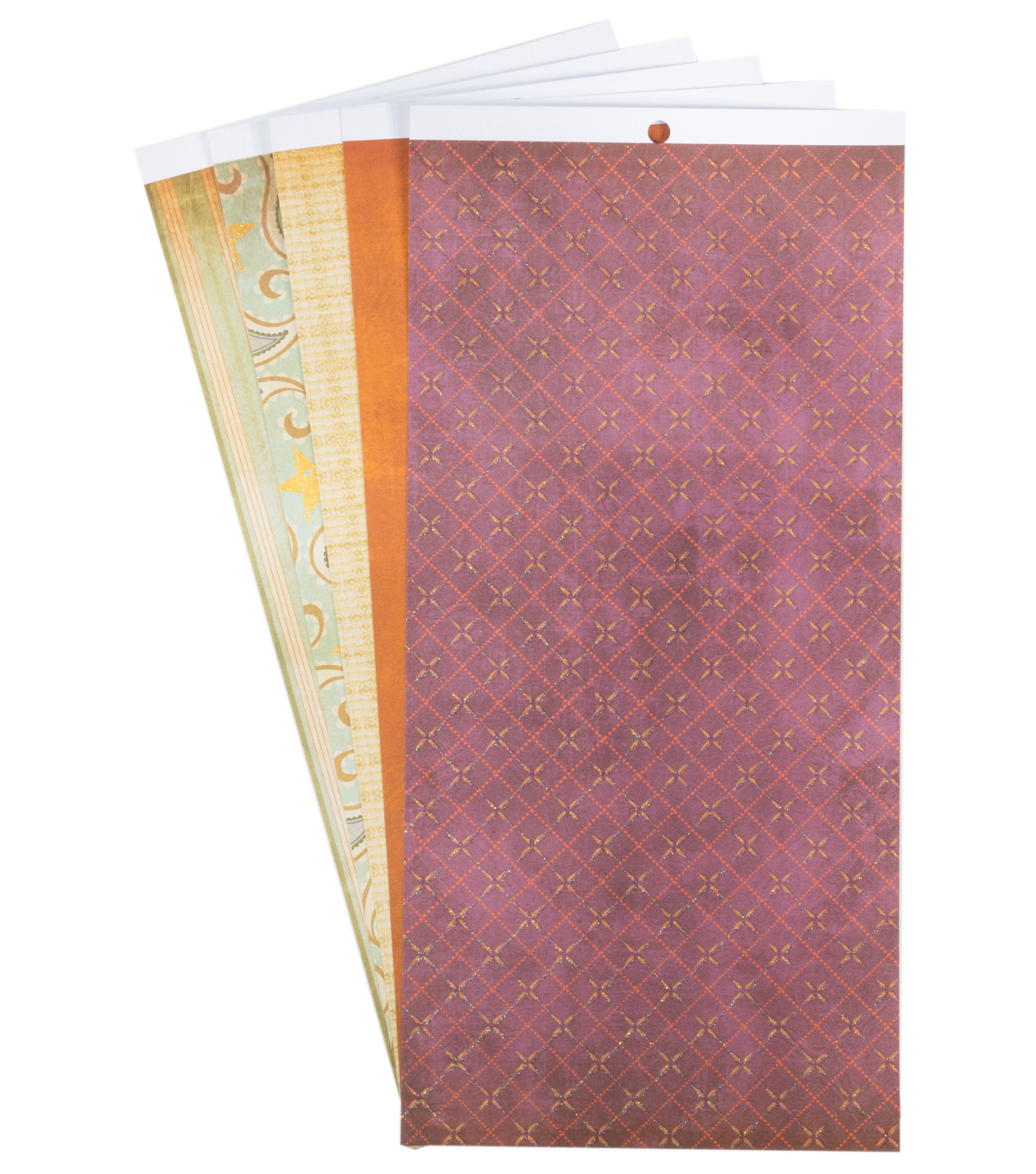 DCWV 6\u0022x12\u0022 Cardstock Stack Neutral Prints with Glitter Highlights