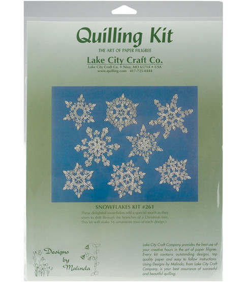 Quilling Kit-16PC/Snowflakes