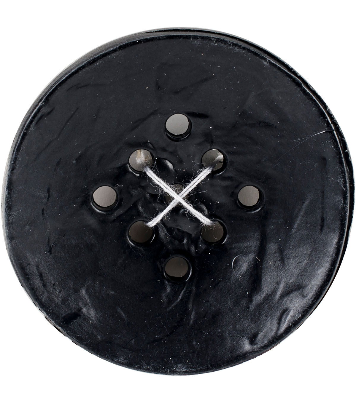 Crafting with Buttons Large 9 Hole Button-Black