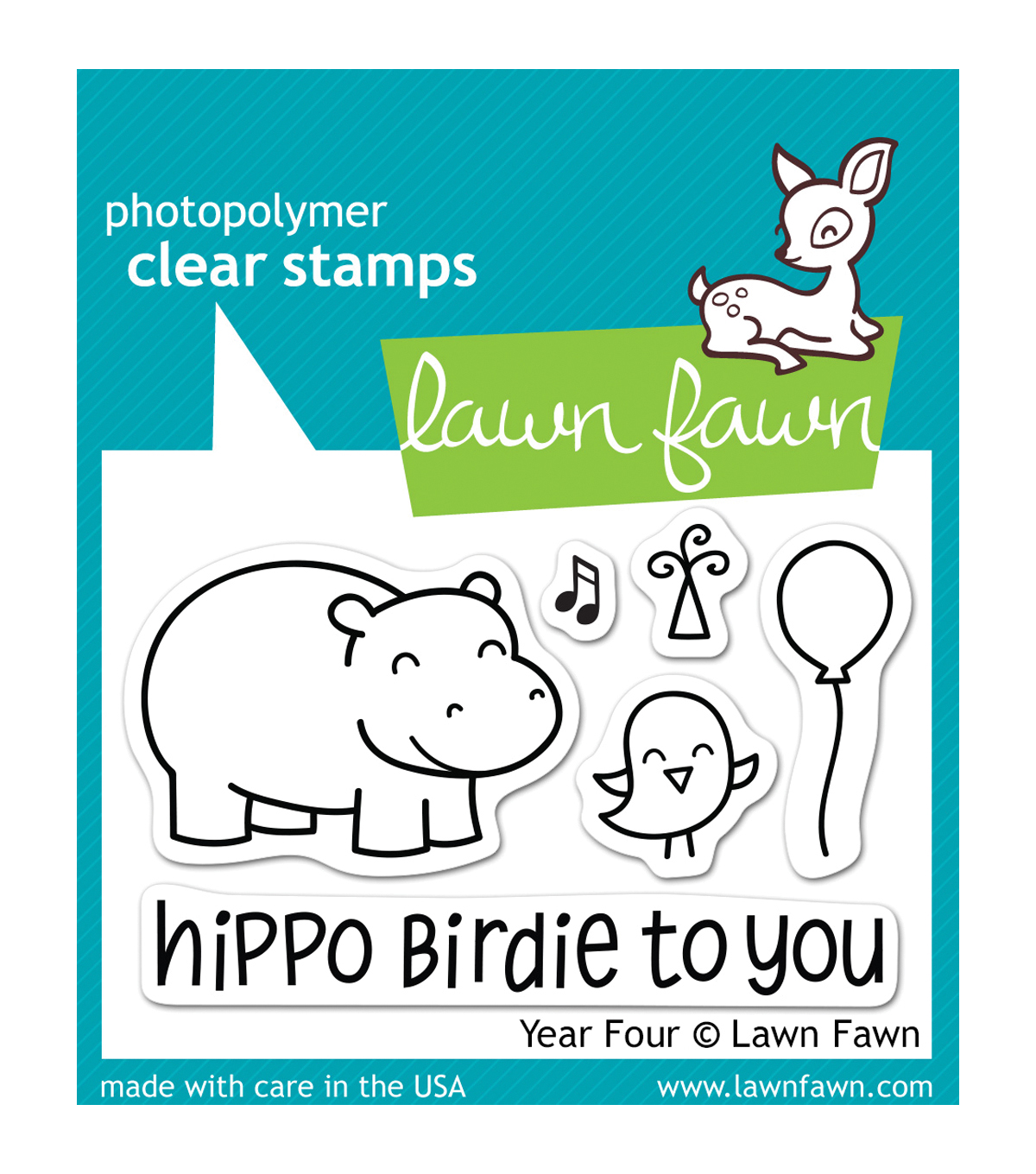 Lawn Fawn Clear Stamps 3\u0022X2\u0022-Year Four