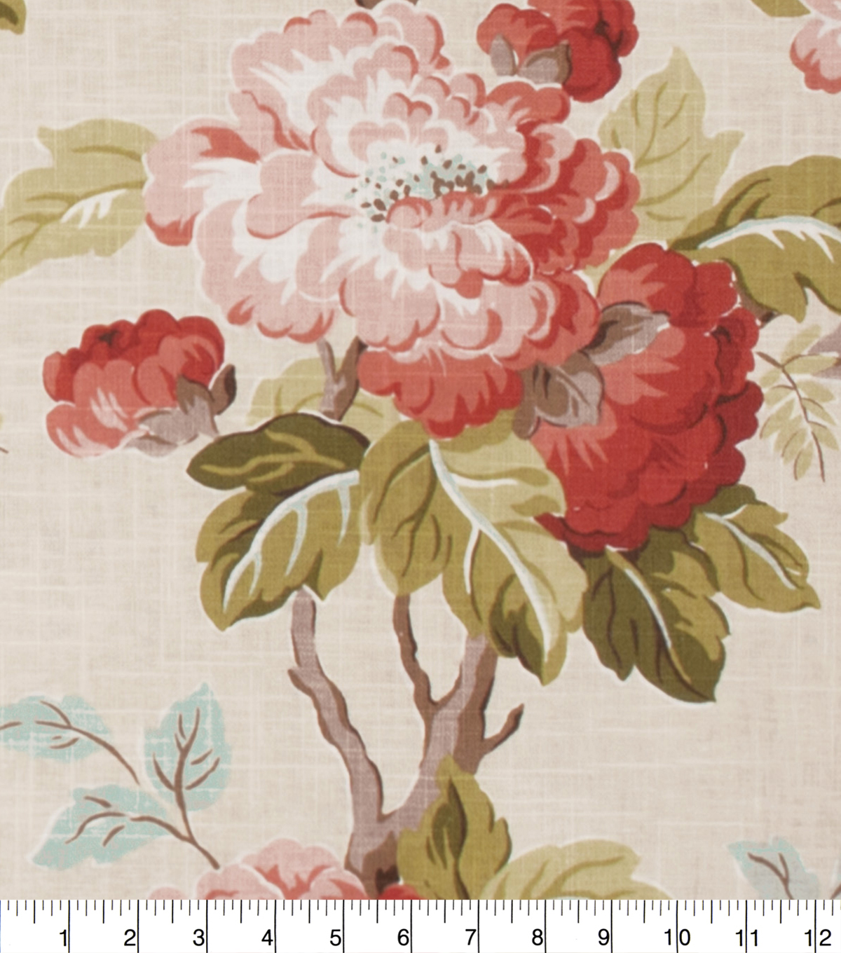 Eaton Square Upholstery Fabric 54\u0027\u0027-Coral Floral